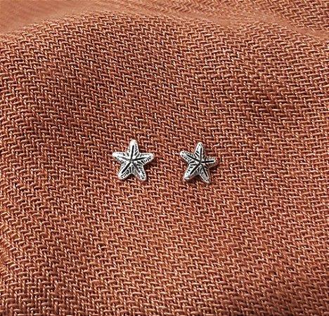 Brinco 2º Furo em  Prata Bali 925 Estrela do Mar