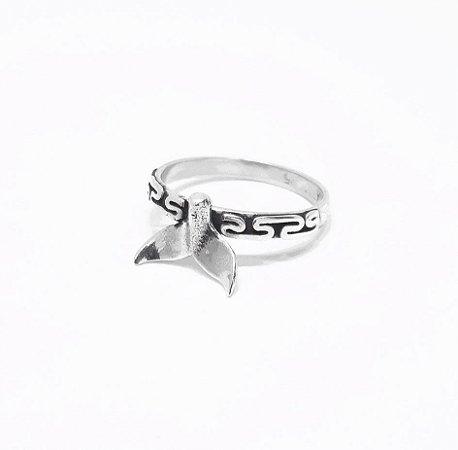 Anel Prata 925 Rabo de Baleia Feito a mão