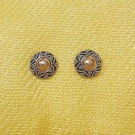 Brinco em Prata 925 e Ouro 18k com Trabalho Bali Manual Filigrana