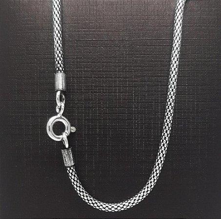 Corrente Prata Bali 925 Pipoca 1,5 mm x 45 cm