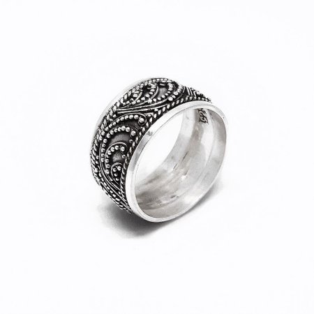 Anel de Prata 925 - Bali - Feito a mão - Filigrana