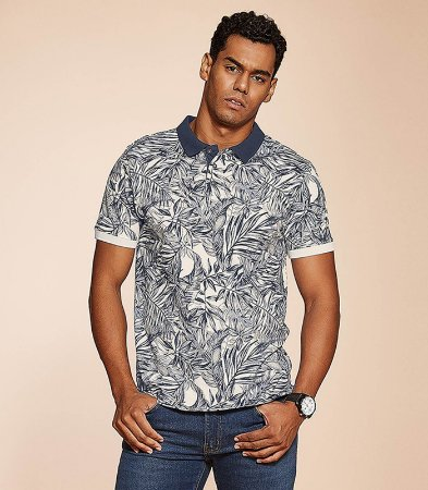 CAMISA POLO FLORAL