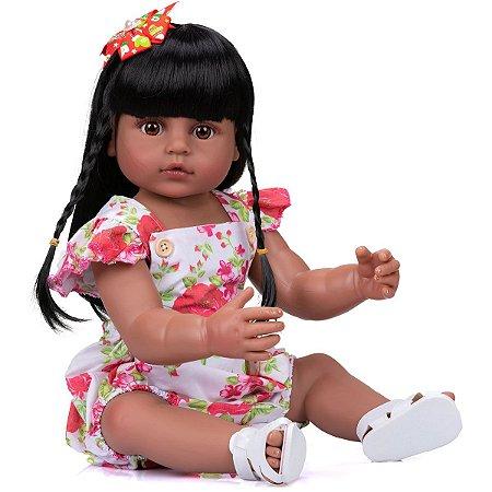 Bebê Reborn Realista Corpo de Silicone 55 Centímetros