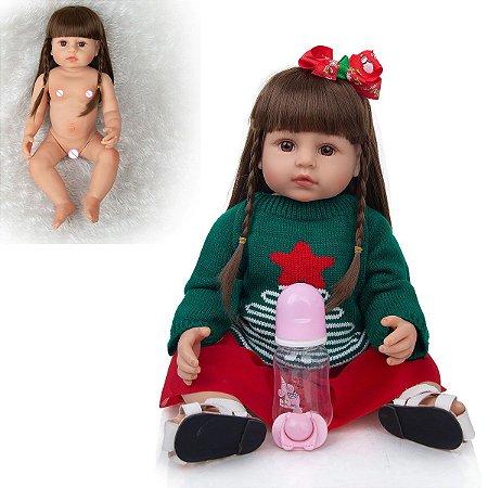 Boneca Reborn 100% Silicone Promoção do Mês