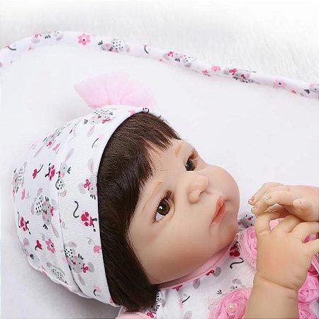 Boneca Bebe Reborn 55cm 100% Silicone - QFLJ7DUFR