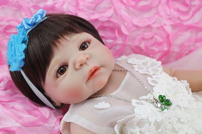 Boneca Bebe Reborn 55cm 100% Silicone - SA7EH799M
