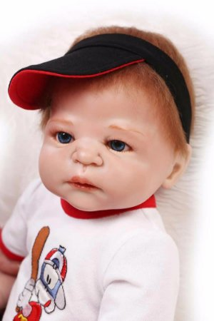Boneca Bebe Reborn 55cm menino 100% silicone - CUVH5EZFV