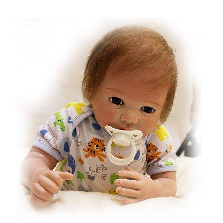 Boneca Bebe Reborn 55cm Menino - WMYPFL2UX