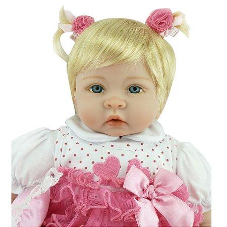 Linda Boneca Bebe Reborn 55cm Loirinha - 6R9TEYU3N