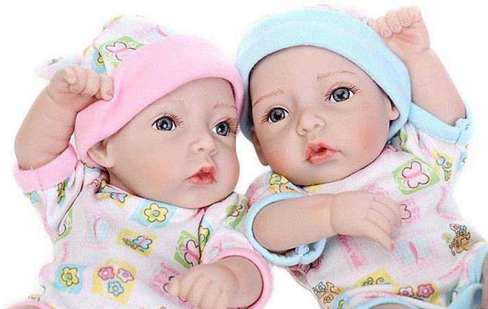 Bebês Gêmeos Modelo Pequeno 27 Centímetros - Q8VK3XB9H