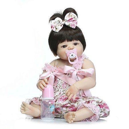 Boneca Bebe Reborn 48cm 100% Silicone - 2M5JY7UWV