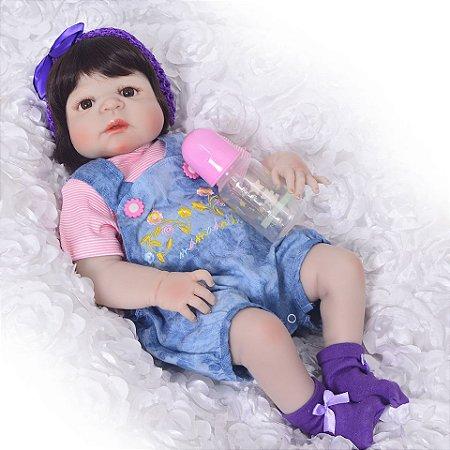 Boneca Reborn Realista 100% Silicone - XUUT3EG7X