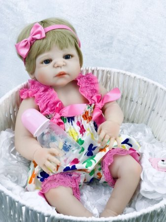 Reborn Bebê Realista Reborn 100% Silicone - BDGQL45KT