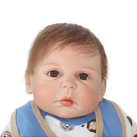 Bebê Realista Menino 100% Silicone - 7BJ8KRU9X