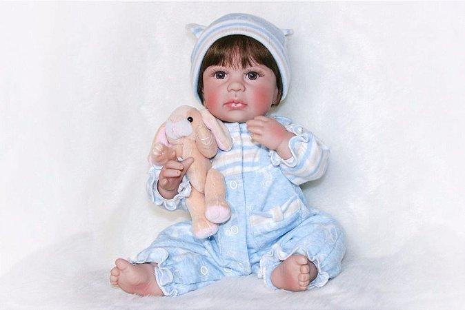 Bebê Reborn Menino 100% Silicone Pode dar Banho - W9ZK9CMD8