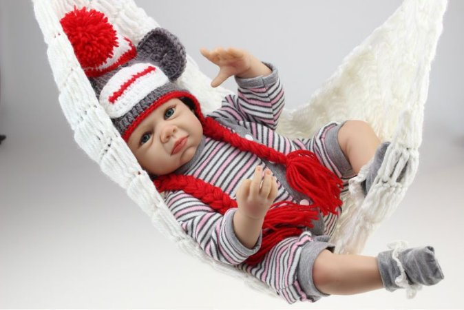 Bebê Reborn Menino 55 Centímetros Cabelo Enraizado - 6RGU6HZQJ