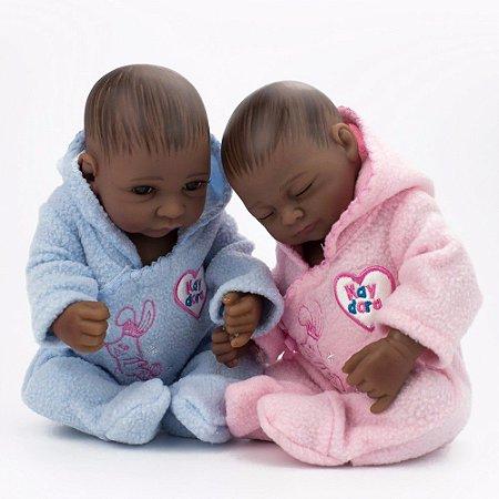 Mini Reborn Gêmeos 27 Centímetros - VKNWGPRYT