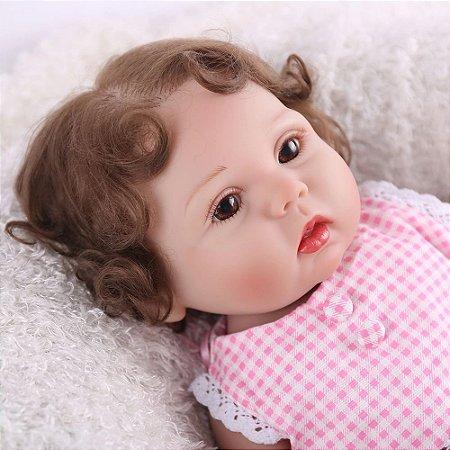 Linda Reborn Bebê 100% Silicone - 3BE9YUACR