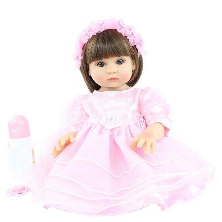 Linda Bebê Reborn Exclusiva Corpo de Silicone 48 Centímetros