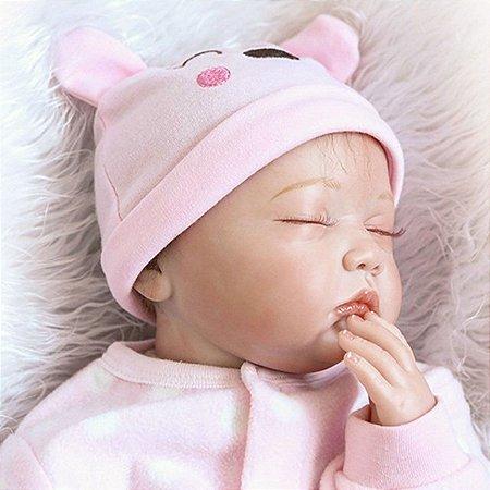 Boneca Reborn Dormindo 55 Centímetros Modelo Excluivo