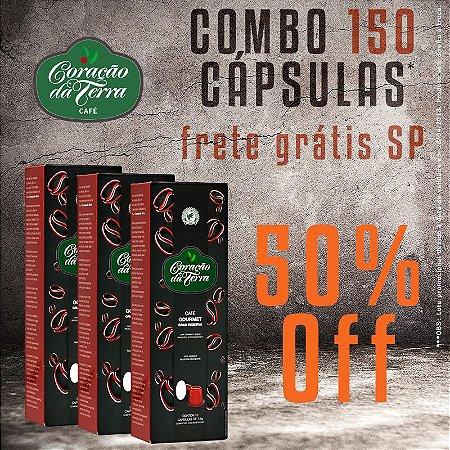Combo 50% Off + Frete Grátis SP - Cápsulas* Coração da Terra - Gourmet Gran Reserva - 150 unidades**
