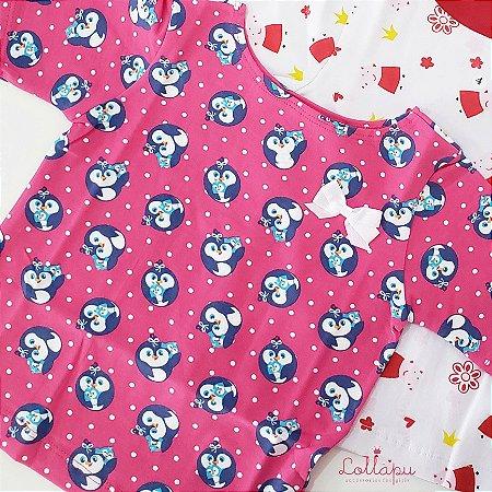 Camiseta Estampada Lollapu Pinguim
