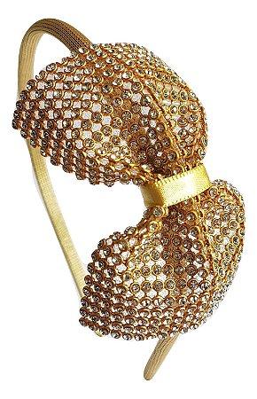Arquinho Glitter Dourado