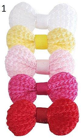 Kit Bico de Pato Lacinho Crochet ( 4 x 2,5 cm)