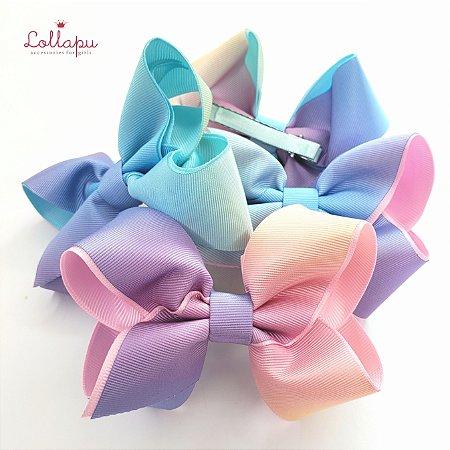 Bico de Pato Laço Degradê Candy Colors G (10cm)