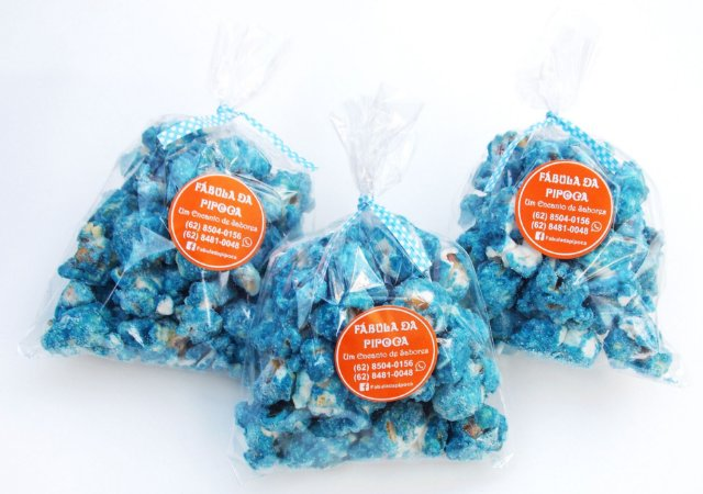 Kit lembrancinhas Menino Azul - 35 Pipoquinhas Gourmet
