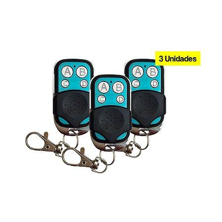 3 Controles Duplicador 2113 P/ Portão Eletrônico, Cerca Elétrica ou Alarme
