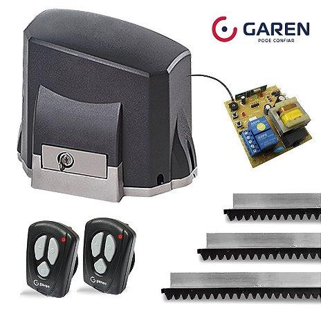 Kit Motor Portão Eletrônico Deslizante Garen Kdz Classic 1/4 Hp