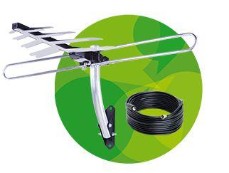 Kit Antena Externa de TV Intelbras AE 4010