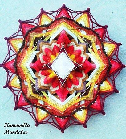 Mandala em flor , 16 pontas e 4 dimensões