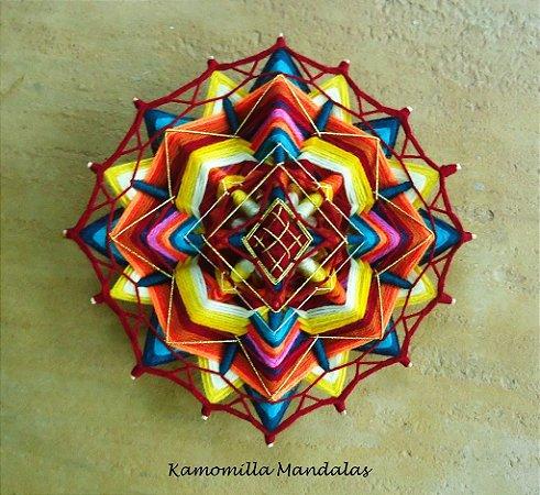 Mandala 16 pontas e 4 dimensões, (Alma Guerreira)