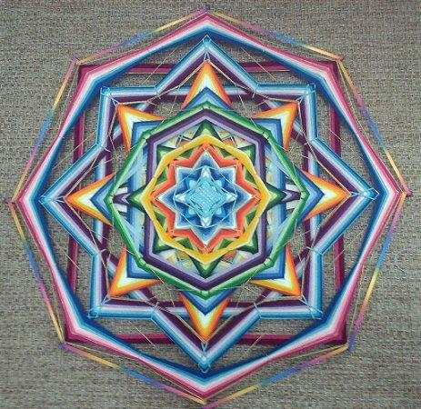 Mandala 8 pontas e 2 dimensões com 80 cm de diâmetro