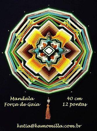 Mandala Força de Gaia 12 pontas (40cm)