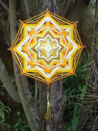 Mandala chakra manipura plexo Solar (30cm)