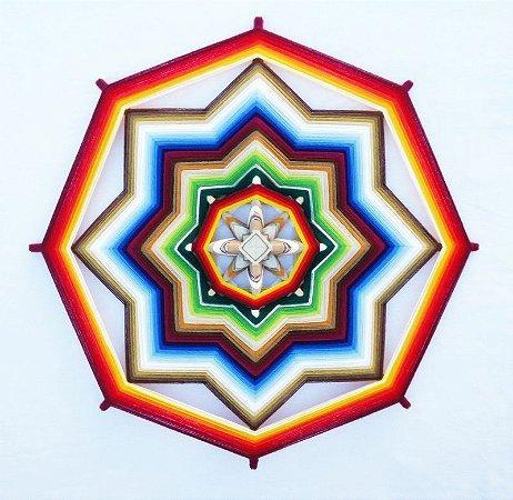 Mandala Shama, Equanimidade (80 cm e 8 pontas)