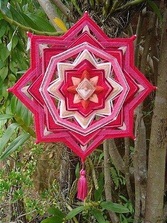 Mandala Rosa em formato flor