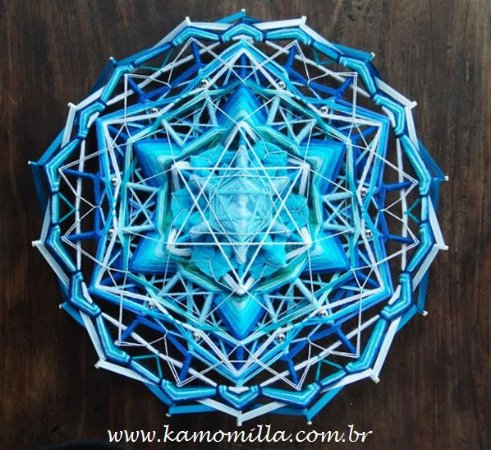 Mandala Estelar 18 pontas e 3D * Peça Exclusiva