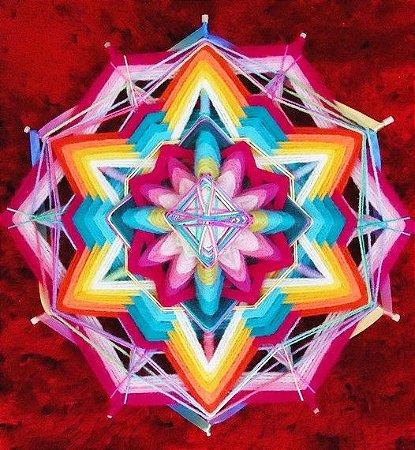 Mandala Radiante 12 pontas e 30 cm