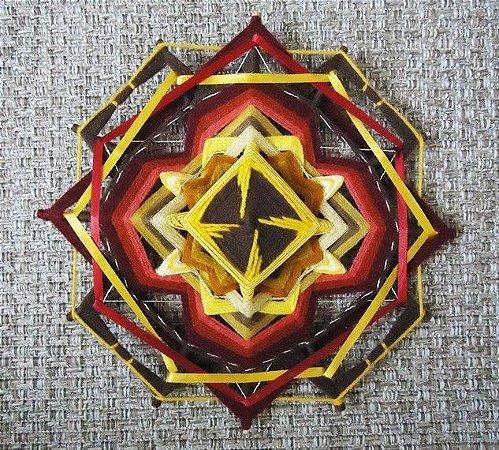 Mandala 30 cm 12 pontas com fitas