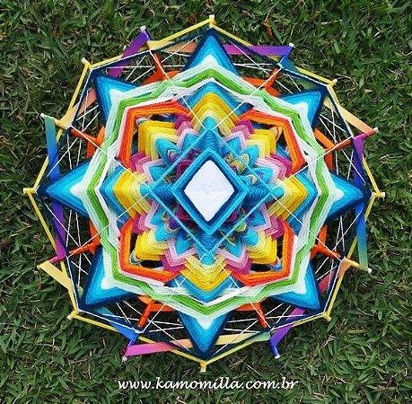 Mandala de 16 pontas Multicolorida