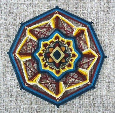 Mandala bordada