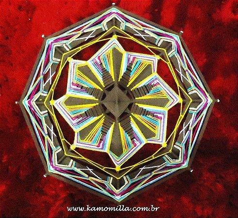 Mandala em linha fina e bordada
