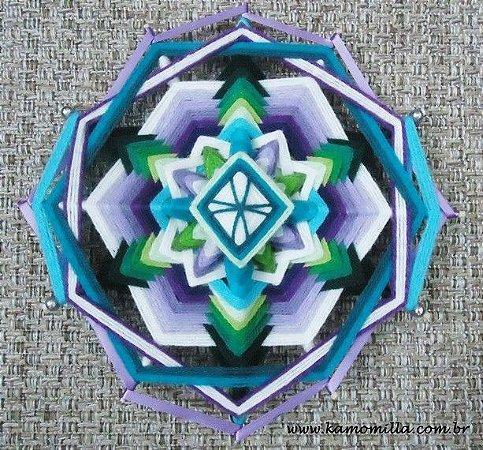 Mandala de 12 pontas e fitas