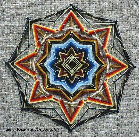 Mandala 40 cm com bordados