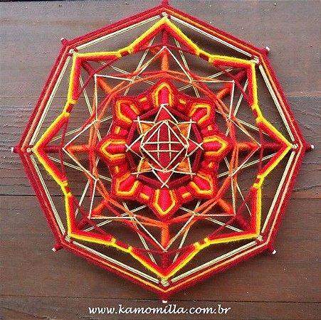 Mandala fogo sagrado bordada