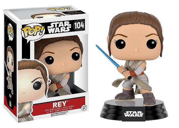 Star Wars Rey with Lightsaber Pop - Funko